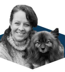 Amy Lear - Dog Trainer, and her pup.
