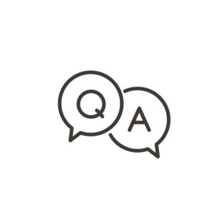 Q and A in word bubbles